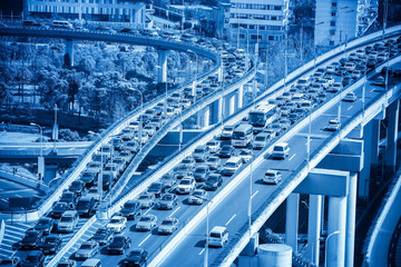 traffic jams closeup