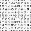 seamless doodle sport pattern