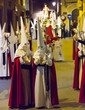 Evening procession during Holy Week in Murcia