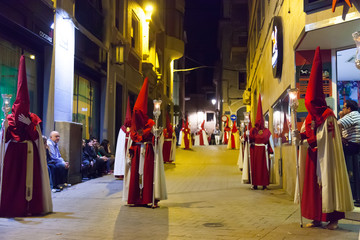 Evening procession during Holy Week