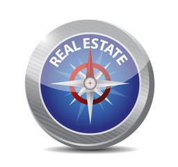real estate compass illustration design