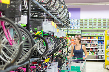 woman buys a bike shop