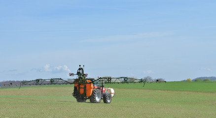 chemical treatment of the fields