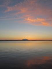 パンケ沼の夕景