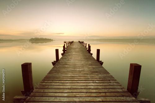 Steg am See - Morgennebel