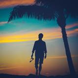 Retro Man On Beach - 64346842