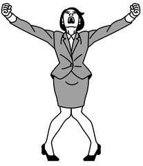 ストレス発散するビジネスウーマン