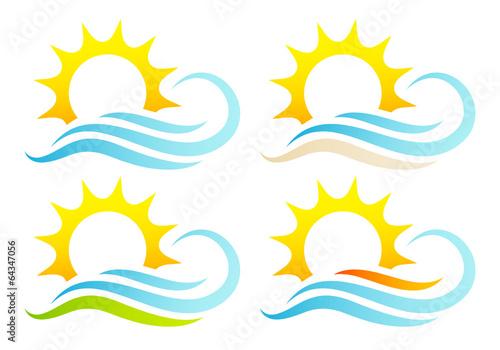 Landscapes Sun & Waves Set