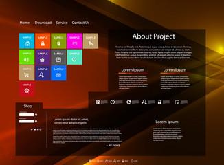 Website modern color art template
