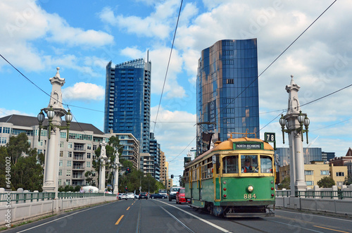 In de dag Australië Melbourne tramway network