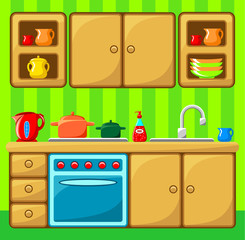 Kitchen interior.