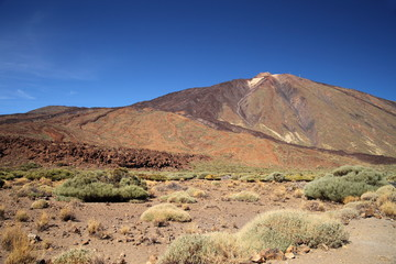 Teide Mountain and rock formation.