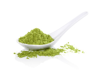 Wheatgrass powder.