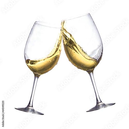 Papiers peints Vin White wine glasses