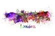 Obrazy na płótnie, fototapety, zdjęcia, fotoobrazy drukowane : London skyline in watercolor