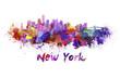 Obrazy na płótnie, fototapety, zdjęcia, fotoobrazy drukowane : New York skyline in watercolor