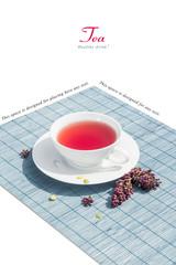 Tea of pomegranate