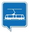 Logo tramway. Tram. - 64351243