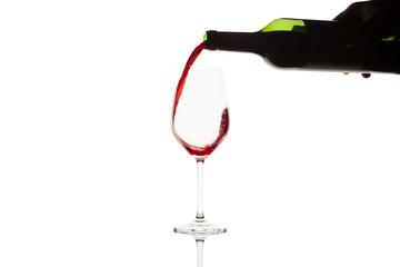 botella de vino chorro