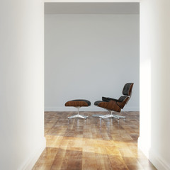 Empty room in a modern house version 3