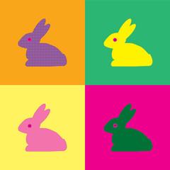 Rabbit Warhol style