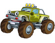 Cartoon car - racing vehicle - illustration for children