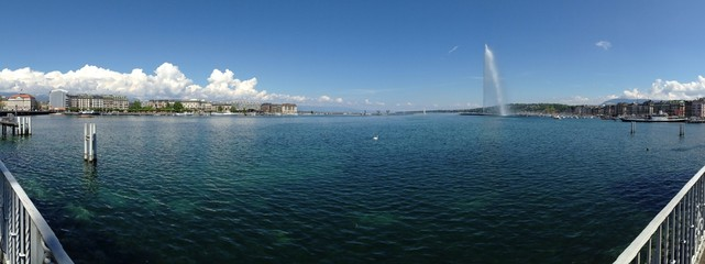 panorama view of Geneva lake