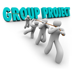 Group Project People Students Workers Cooperation Collaboration