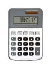 bankrupt - you are ruined