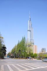 Nanjing,China-April 7,2014:Zifeng Tower (Greenland Center-Zifeng