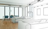 Entwurf modernes Interior Design - 64354815