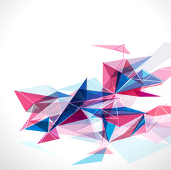 Abstract mesh colorful with lines template, vector illustration
