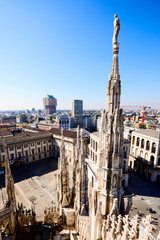 Duomo cathedral of Milan - view from roof terrace