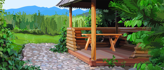 gazebo landscape nature