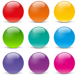 Vector sphere icons