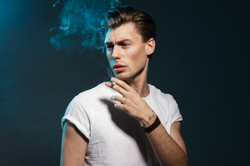 smoking man,