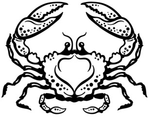 crab black white