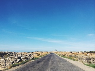 road amidst rocky landscape