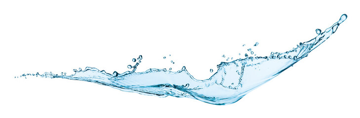 Water splash isolated on white © andriikoval