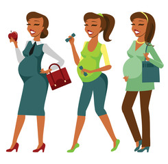 Pregnant woman lifestyle