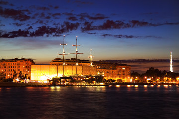 Night view of St Petersburg, Russia