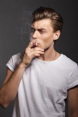 smoking man,