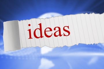 Ideas against global technology background