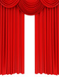 red carpet and red curtain stage - 64357849