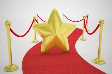 red carpet and goldstar