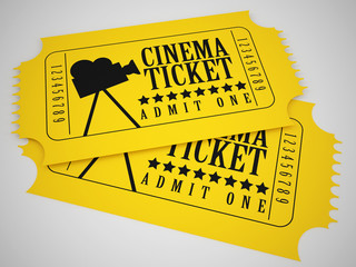 yellow cinema tickets