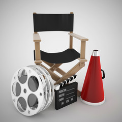 Director's chair and cinema concept