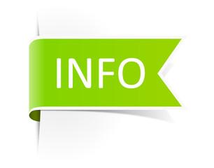 Schild grün Info