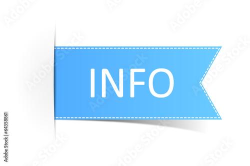 Schild blau Info