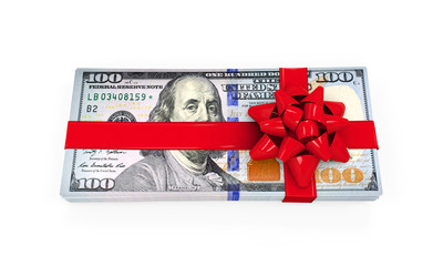 Money Gift Isolated